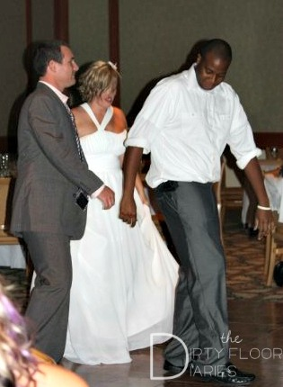 Line Dancing at my wedding with my Cowboys Faves.