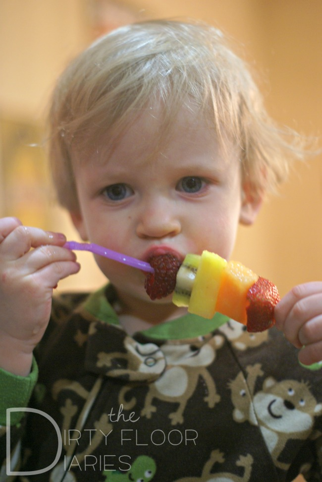 The Stinky Eating Fruit Kabobs