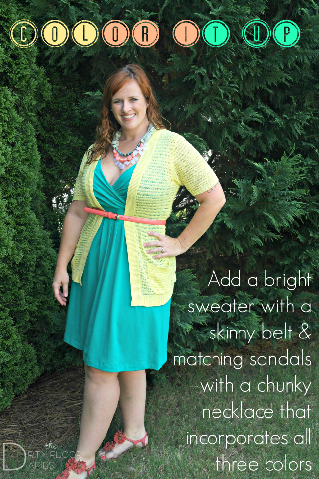 Color Blocked Outfit from Sears. Look #4 of 5 using 1 dress.