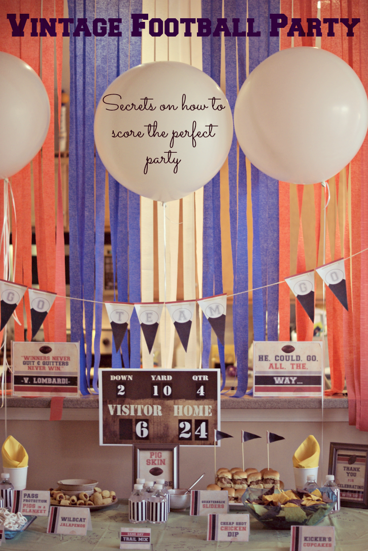 How to throw a beautiful Vintage Football Party for the Big Game with little effort or cost. #OneBuyForAll #shop #cbias