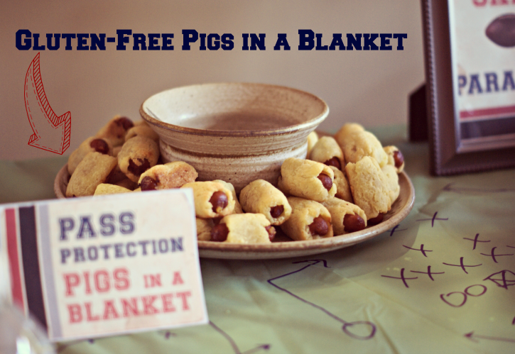 Gluten Free Pigs in a Blanket & How to throw a beautiful Vintage Football Party for the Big Game with little effort or cost. #OneBuyForAll #shop #cbias