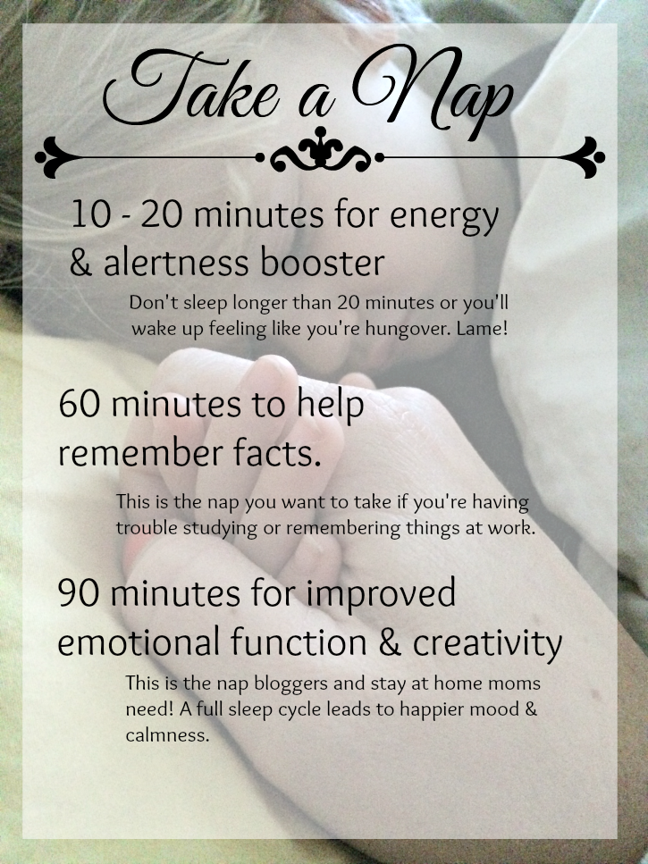 How long do you need to take a nap for maximum benefits? Follow this guide, then START NAPPING! #LoveHealthyMe #WWSponsored