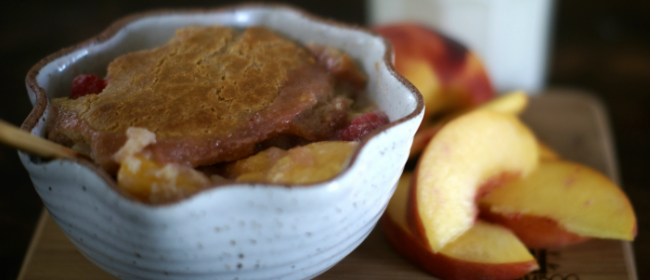 Peach Berry Cobbler with Kefir {Recipe}