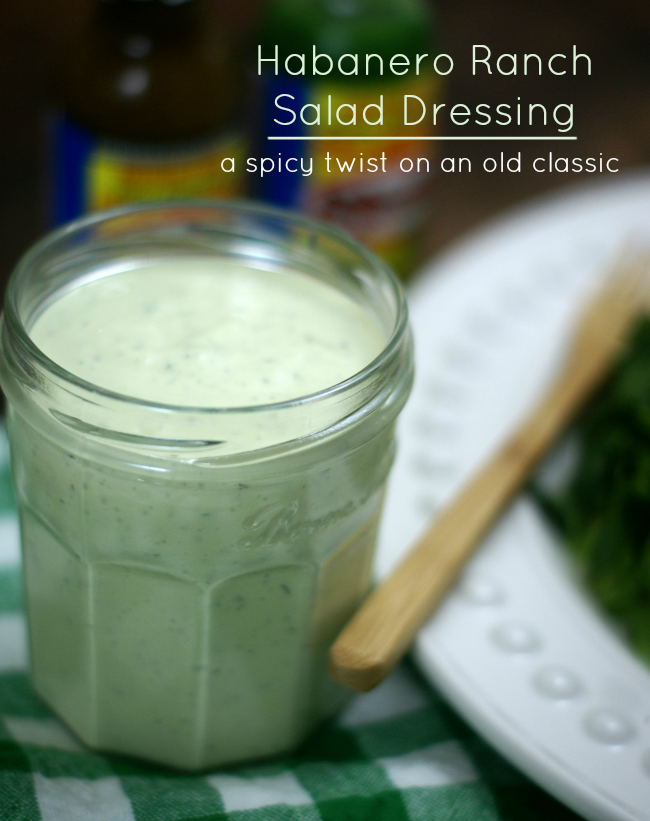 Homemade Habanero Ranch Salad Dressing. #SauceOn #shop