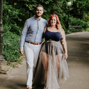 Haute Couture, Curve Model, Couple in Central Park, NYC photography