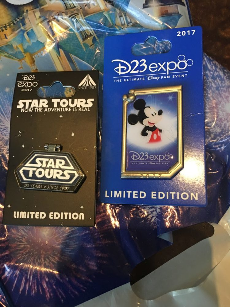 D23 Expo 2017 Limited Edition Trading Pins Star Tours