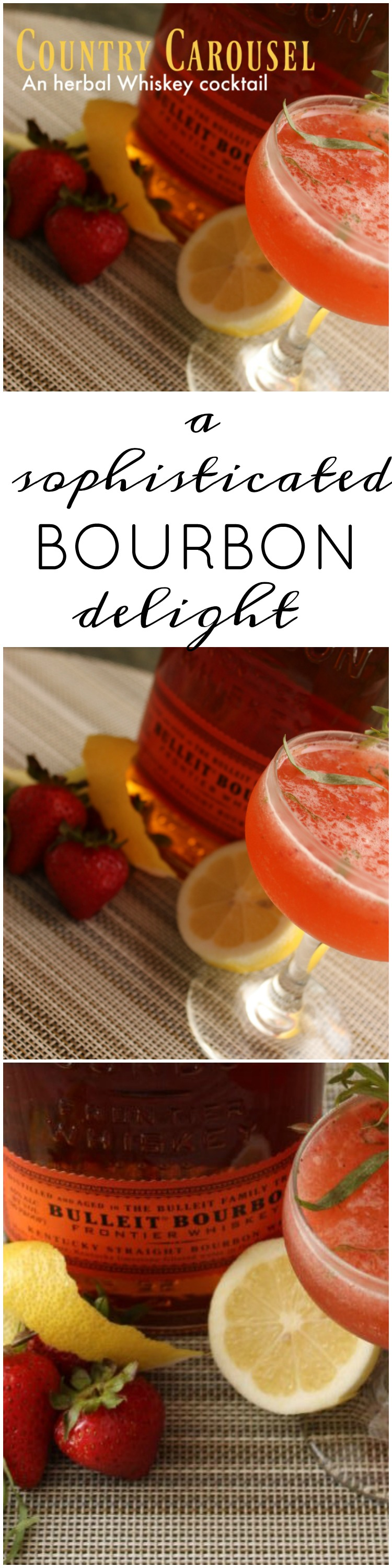 Bourbon Cocktail recipe strawberry