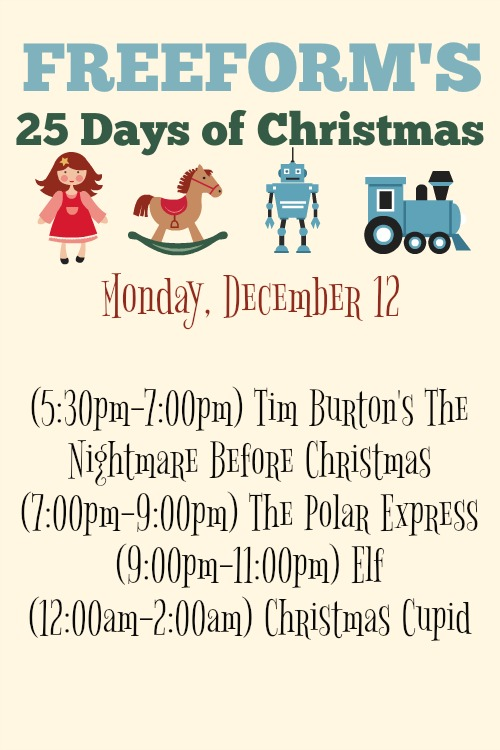 What Christmas Movies are on today? December 12