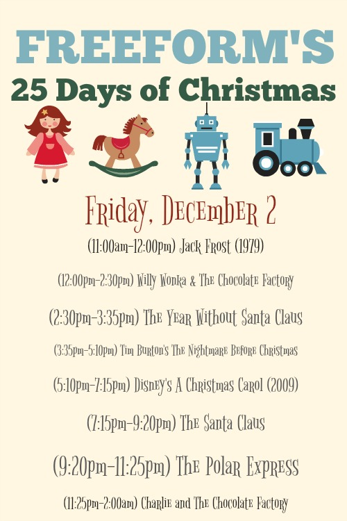 What Christmas Movies are on today? December 2