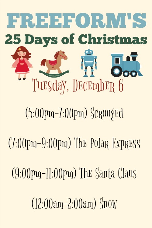 What Christmas Movies are on today? December 6