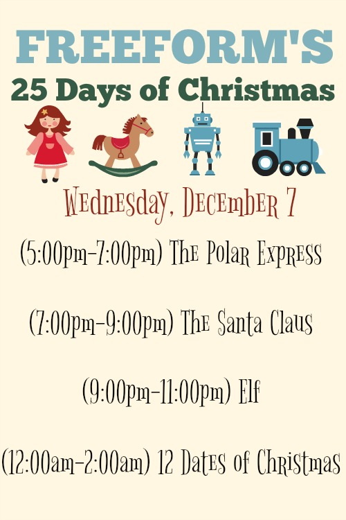 What Christmas Movies are on today? December 7