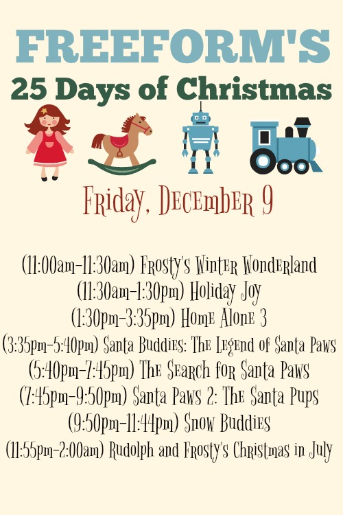 What Christmas Movies are on today? December 9