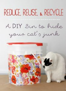 DIY bin to hide cat food, World's Best Cat Litter