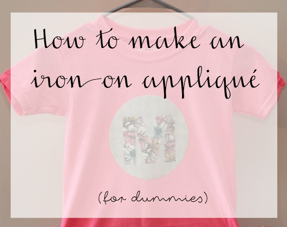 how to make an iron on applique