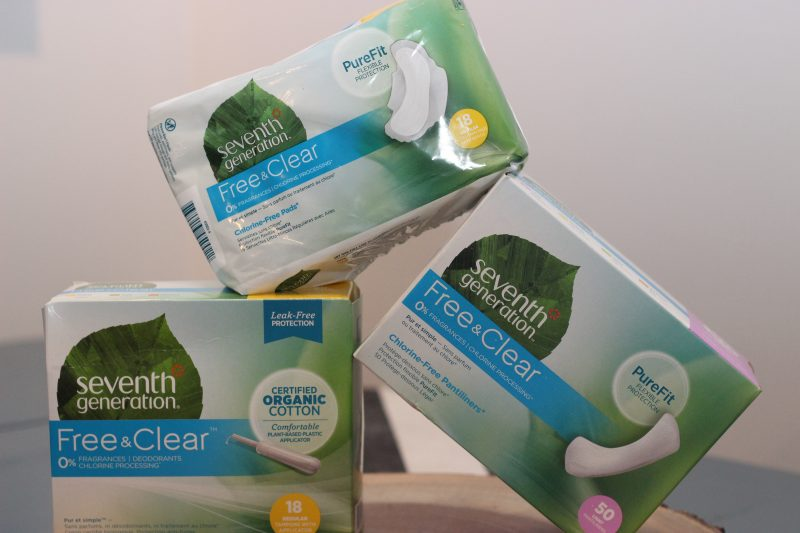 non toxic tampons, organic tampons, non bleached tampons, pads