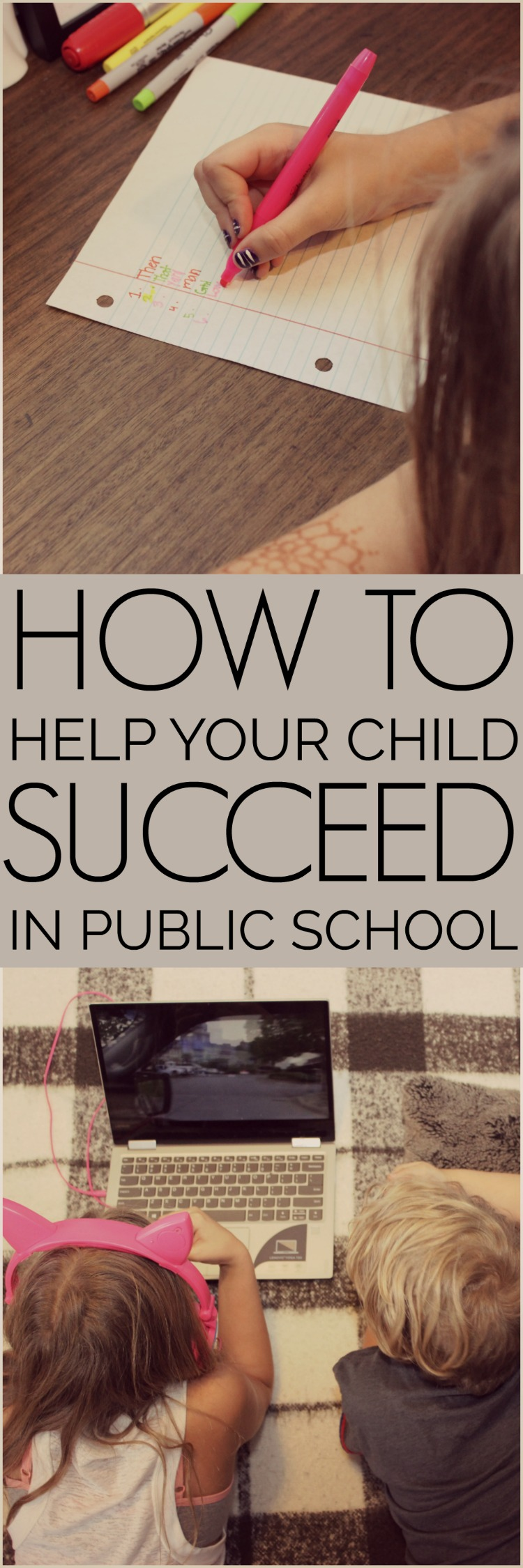 How to help your child succeed in public school