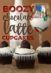 Boozy Chocolate Latte Cupcakes