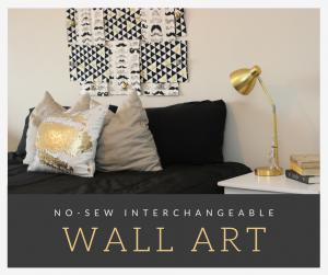No-Sew, Interchangeable, Simple Bedroom Wall Art