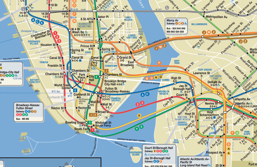 Subway Map Brooklyn, MTC, Train NYC