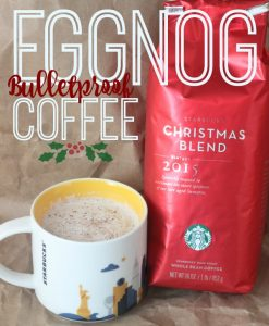 Eggnog Bulletproof Coffee Recipe for keto and low carb diets