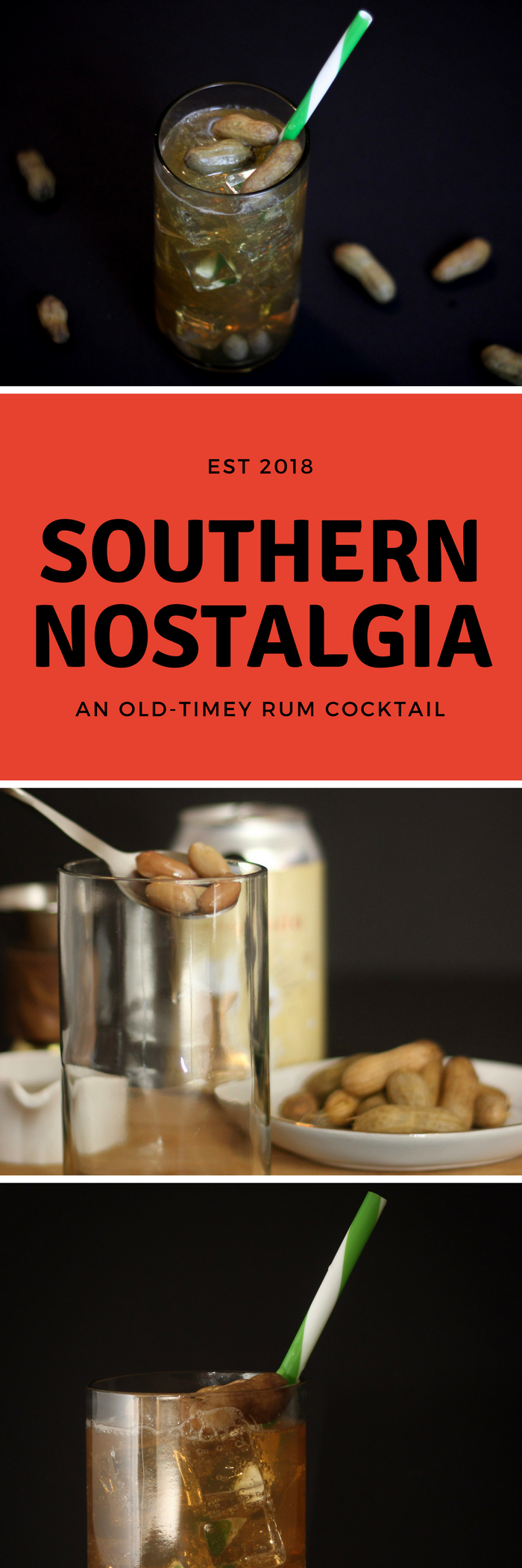 This is a simple rum cocktail rooted in southern simplicities like cream soda and boiled peanuts. It will surprise you and take you back to the good ol' days. #RumCocktail #CocktailRecipe