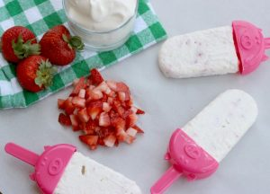 Strawberry Shortcake Ice Pops
